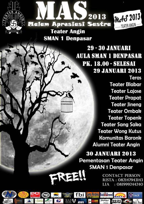 Poster MAS Teater Angin 2013
